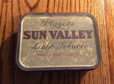 Vintage players sun valley light Tobacco Tin 1940's