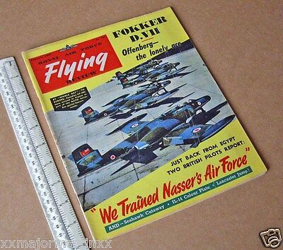 1957 Vintage RAF Flying Review Classic Cold War Aviation Mag Nasser's Air Force