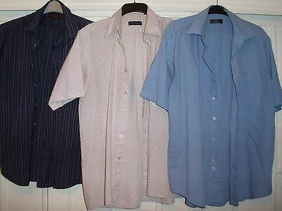 3 Gents Casual Large Short Sleeved Shirts