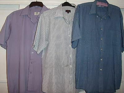 3 Gents Short Sleeved Shirts Large