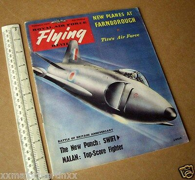 1953 Vintage RAF Flying Review Classic Cold War Aviation Mag Supermarine Swift