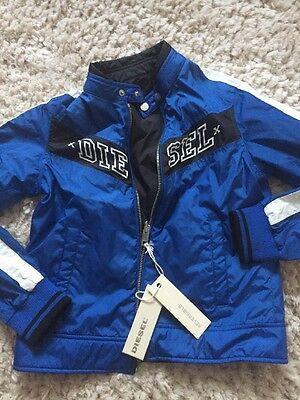 New Diesel Reversible Jacket Size 10 Approx Age 7 8 9