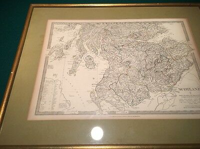 Antique Map Of Scotland By Walker - 1834