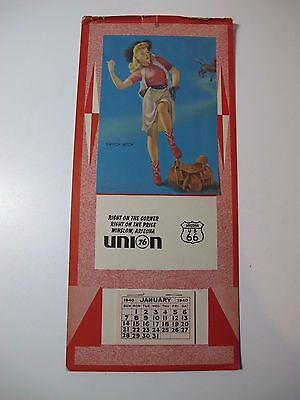 1940 calendar for Union 76 Winslow , Arizona On COLLECTIBLE U. S. 66
