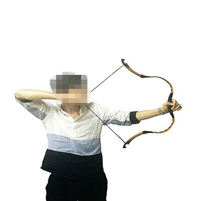 10-40# Mini Bow Brown Pigskin Chinese Handmade Archery Hunting Horsebow 20 Inch