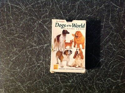 Vintage Dogs of the World Set of playing cards