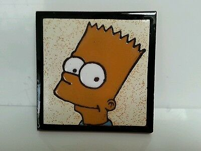 THE SIMPSONS: BART SIMPSON Ceramic Wall Plate, Matt Groening, Fox, Collectible