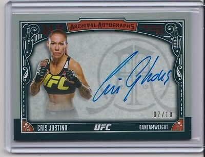 2016 Topps Museum Cris Justino  Arehival  Autograph # 7/10