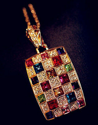 Fashion Charm jewelry Crystal vintage long Pendant sweater Chain Necklace N192