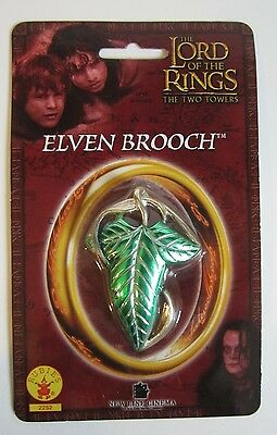 LOTR Lord of Rings Rubies Costume Elven Brooch Pin Mallorn Leaf RARE TTT Version