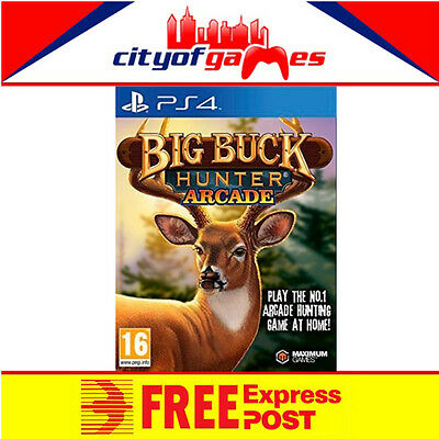 Big Buck Hunter PS4 New & Sealed Free Express Post In Stock