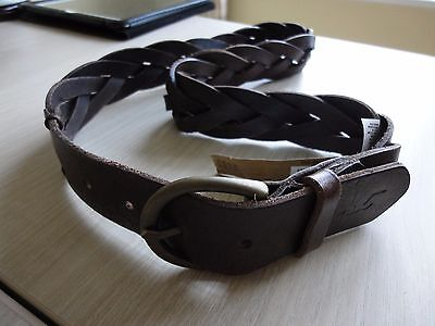 Hollister Ladies Brown Leather Belt Size XS