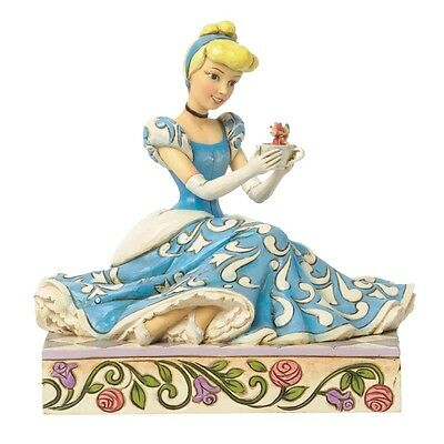 Disney Traditions Caring and Courageous Cinderella with Jaq & Gus Figurine
