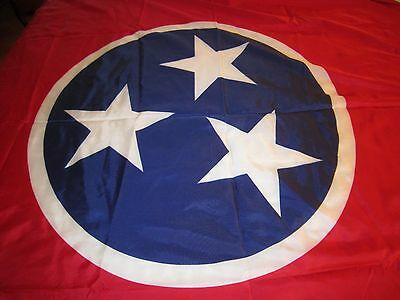 "State of Tennessee Flag 5' x 8' -""USED"" USA made"" Heavy Nylon-Brass Grommets!!!!"