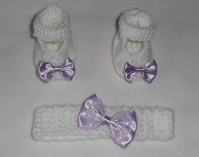 """Hand knitted  dolls clothes. Fit reborn - premature -  18""""-/19"""" baby doll."""