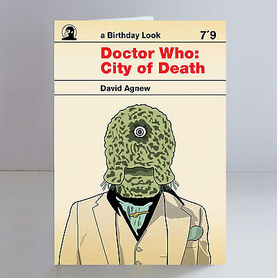 Doctor Who City of Death Birthday Card Limited Edition Retro Penguin Books
