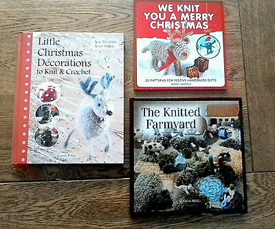Knitting books Christmas decorations and Knitted Farmyard
