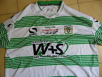 Maillot  yeovil contre manchester united fa cup neuf etiqueté taille XL