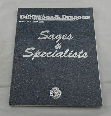 Advanced Dungeons and Dragons AD&D Sages & Specialists NPC Handbook TSR2146