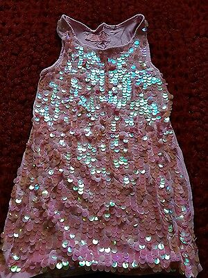 pink Next sequin top age 7 years
