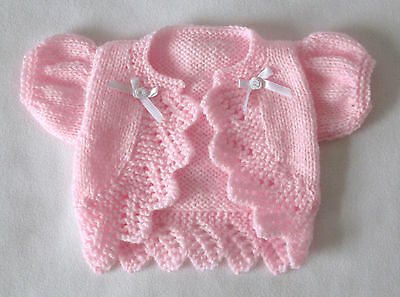 """Hand knitted dolls clothes. Fit 18/19"""" reborn,baby doll. Premature baby."""