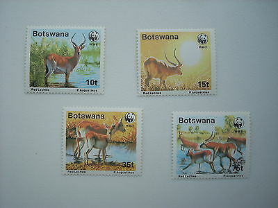 Botswana 1988 Red Lechwe Set 4 Mnh Sg648/51