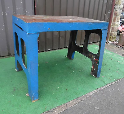 Antique / Vintage  Cast Iron Frame Table Legs, Industrial Large Heavy
