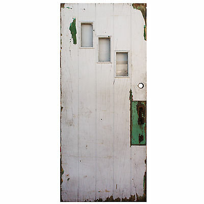 "Salvaged 36"" Antique Plank Door, Early 1900s, NED599"