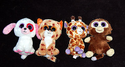 4 adorables peluches 20 cm  ** TY **