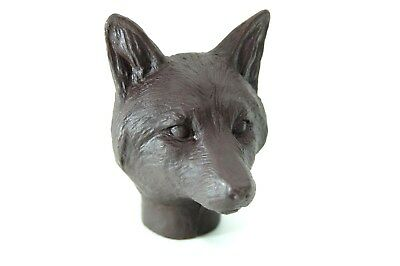 Fox head brown Resin for walking stick Making fits 25mm collar