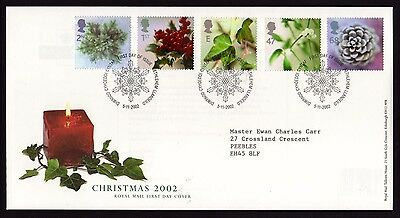 First Day Cover..Christmas 2002 (5th November 2002)