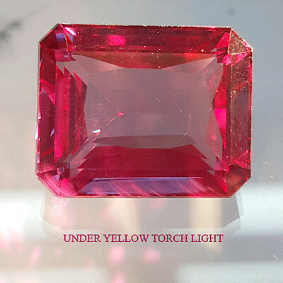 24.50 Cts Twinkling Colour Change Octagon Shape Alexandrite Lab Created