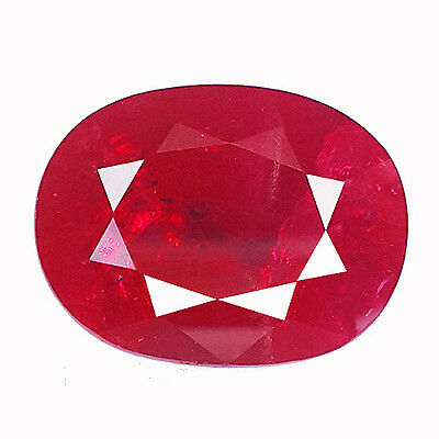 19.00 Ct Awesome Blood Red Ruby Oval Shape Lab Created Chathum