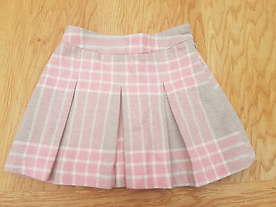 NEXT Girl's Pink Check Skirt Size 5 - 6 Years