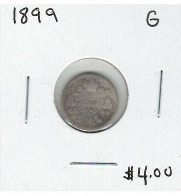 Canada 1899 Silver 5 Cents G