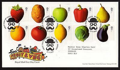 First Day Cover....Fun Fruit and Veg (25th March 2003)