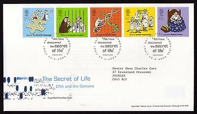 First Day Cover....The secret of Life (25th February 2003)