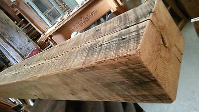 Antique Oak Fireplace Mantel Beam