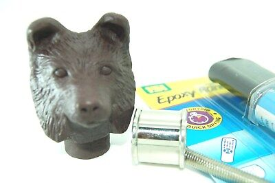 Collie head Brown Resin kit for walking stick Making fits 25mm collar