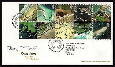 First Day Cover...Coastlines...(19th March 2002)
