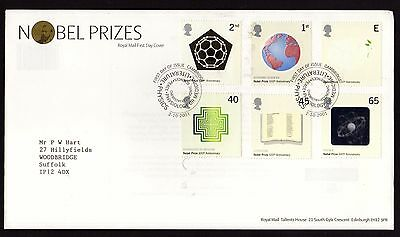 First Day Cover....Nobel Prizes... (2nd October 2001)
