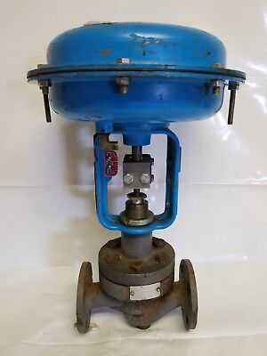 "Warren Controls Model 58N Flanged Control Valve, Cv: 5, 1"", #150, CS Body"