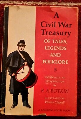 A Civil War Treasury of Tales, Legends, and Folklore Boykin (Hardcover, 1960)