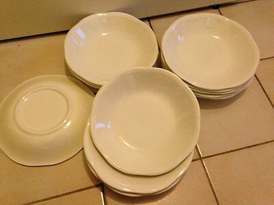 12 Anciennes Assiettes Creuses Blanches Type  Digoin Sarreguemines