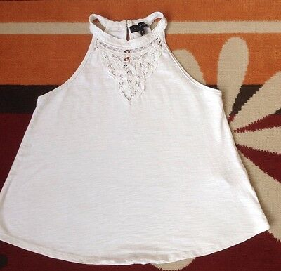Womens White New Look Top Size 6