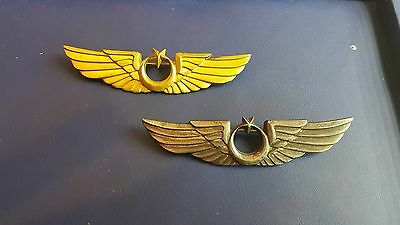 Gold Silver Ottoman Turkey Air Force Military Pilot Insignia Badge Veryrare Wing