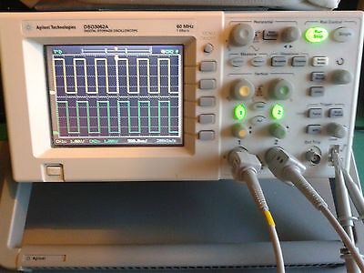 Agilent DSO3062A Oscilloscope with genuine probes and USB cable