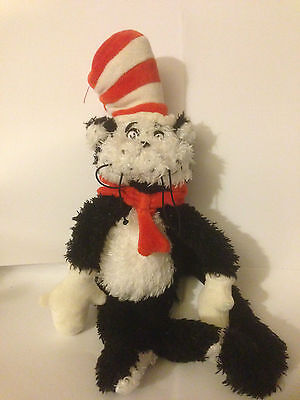 Dr Seuss -  The Cat In The Hat 12'' Plush Soft Toy Beanie - Manhattan Toys 2001