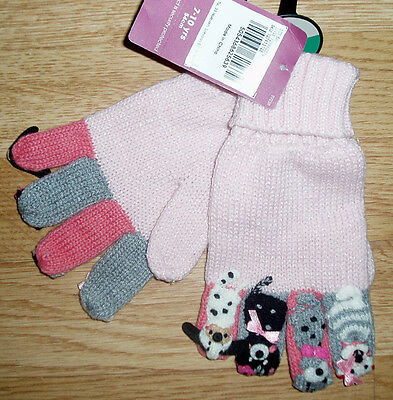 Tu Pink Animal Character Gloves Age 7 ~ 10 Yrs Bnwt