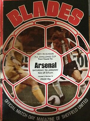 Sheffield United v Arsenal (FA Cup Third Round) 1977-78